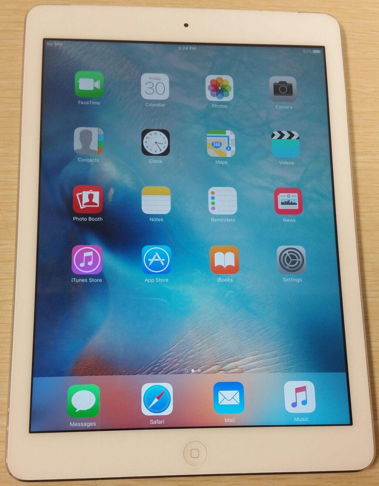 Ipad - Apple iPad Air 1st Gen 16GB, 9.7in Wi-Fi + 4G LTE (Unlocked) Silver A1475