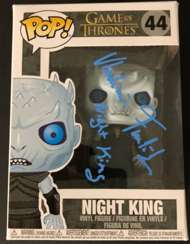 Vladimir Furdik Signed Funko Pop Figure Game of Thrones Night King Exact Proof