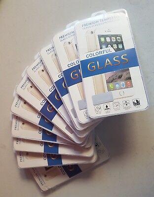 Pack 10 cristales templados IPHONE 6 / 6S PLUS 3D COLOR ROSE...