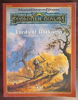 Forgotten Realms Lords of Darkness Advanced Dungeons Dragons