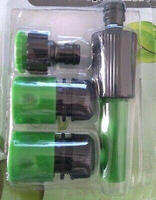 2 conectores y adaptador de grifo manguera y Boquilla de riego 1/2...