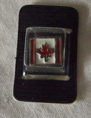 - Necklace Bracelet Charm Bead Enamel Canadian Flag Maple Leaf Square