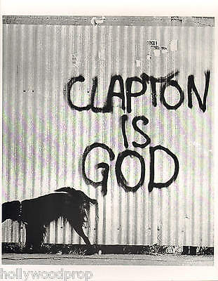 ERIC CLAPTON IS GOD CREAM THE YARDBIRDS GRAFFITI DOG PHOTO POSTER PRINT REPRINT