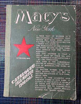 VTG MACY'S NEW YORK 1906 1907 DEPARTMENT STORE FALL WINTER CATALOG OLD (Macys Store New York)