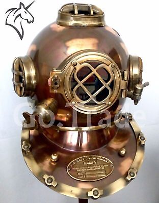 US NAVY MARK V ANTIQUE DIVING DIVERS HELMET BRASS STEEL FULL SIZE MARITIME GIFT