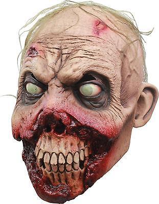 Erwachsene Rotten Zahnfleisch Zombie Untoter Gruselig Voll Latex Maske Kostüm