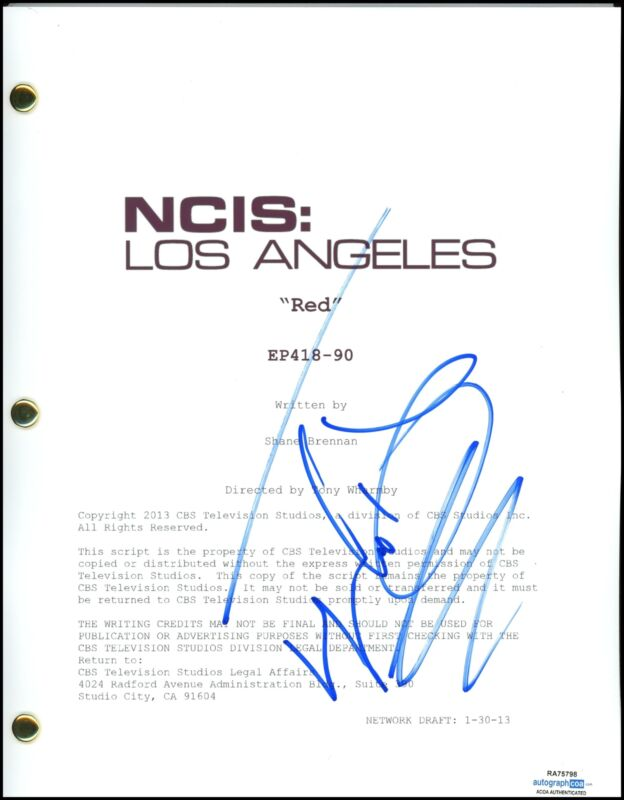 """LL Cool J """"NCIS: Los Angeles"""" AUTOGRAPH Signed Full Episode 'Red' Script ACOA"""
