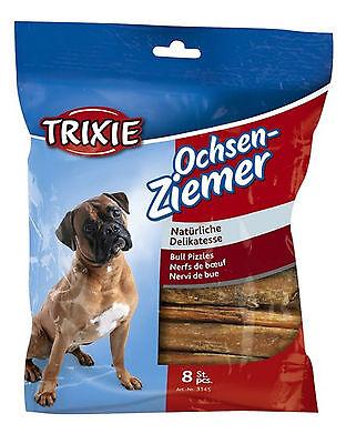 Bull Pizzles Bully Sticks 12cm Pack of 8 Dog Treats Chews 100g