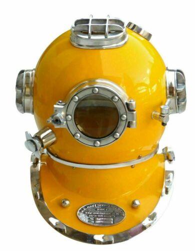 U.S. Navy Diving Helmet Mark V Solid Brass Boston 18