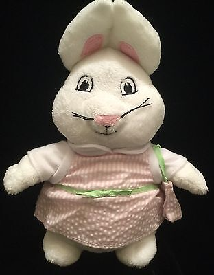 "MAX & RUBY 10""  BUNNY RABBIT PLUSH Ruby DOLL 2011 ROSEMARY WELLS Pink Dress"