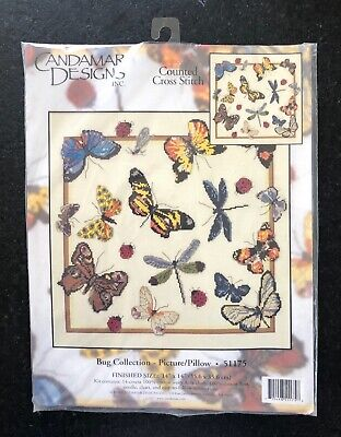 Bug Collection Kit (Candamar Designs Counted Cross-Stitch Kit - Bug Collection #51175 - 14x14in -)