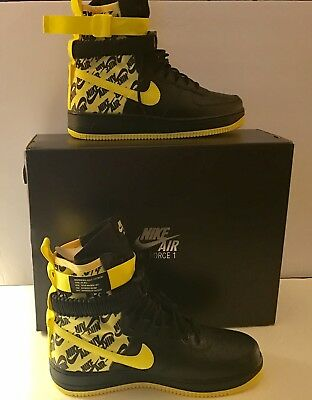 finest selection 285f3 934af Nike Air Force 1 High SF-AF1 Special Field Men Size 10.5 Yellow Black AR1955