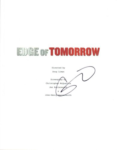 Emily Blunt Signed Autographed EDGE OF TOMORROW Full Movie Script COA VD