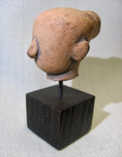 Antique Mounted Majapahit Terracotta / Clay Head from Eastern Java (Indonesia)