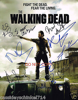 "The Walking Dead AMC TV Show Reprint Signed 11x14"" Cast Poster Photo RP"