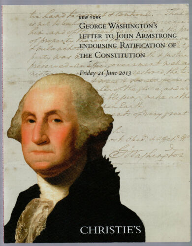 Washington Endorsing Consitution Ratifaction Document AUCTION CHRISTIE