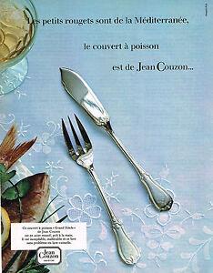 publicite advertising 034 1984 jean couzon couvert poisson ebay. Black Bedroom Furniture Sets. Home Design Ideas