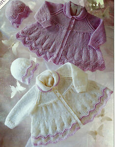BABY PREMATURE DOLL 12/20 INCH MATINEE COAT & HAT PATTERN (74)