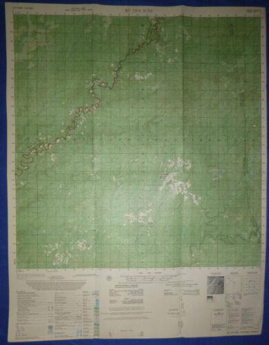 6433 iii - MACV MAP - BU GIA MAP - Cambodia Border - Vietnam War - CIA AIRFIELD