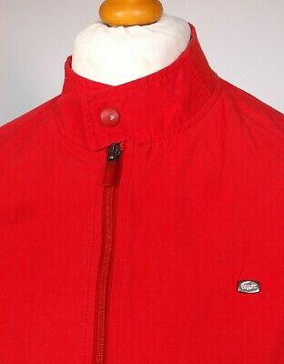 "Lacoste Red Harrington Jacket - XL|2XL|48"" - Ska Mod Scooter Terraces Indie 60's"