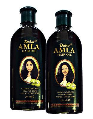 Dabur Amla (indische Amla-Stachelbeere) Haaröl 2 x 200ml Ayurvedisches Haaröl
