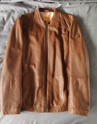 Men's Hugo Boss XL leather jacket. Perfect condition - worn twice.