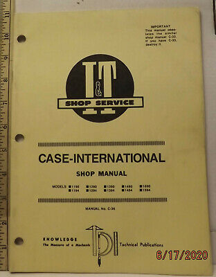Case Ih David Brown 1190 To 1690 Tractor It Service Shop Manual Very Good Solid