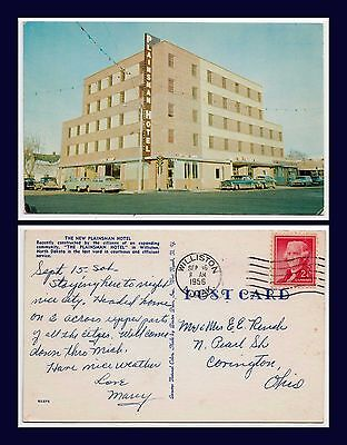 US NORTH DAKOTA WILLISTON PLAINSMAN HOTEL POSTED 16 SEPT 1956 TO COVINGTON OHIO