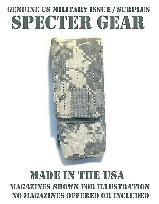SPECTER GEAR 511 US ARMY ACU MILITARY MOLLE TACTICAL DOUBLE 30RD RIFLE MAG POUCH