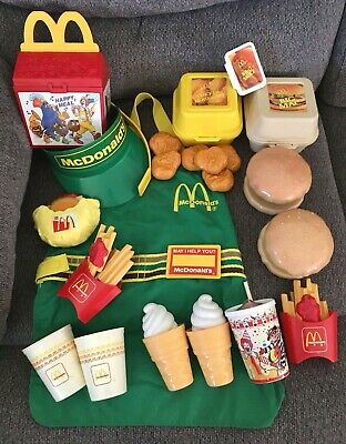 Vintage Fisher Price Fun with Food McDonald's Pretend Playfood Realistic Lot +