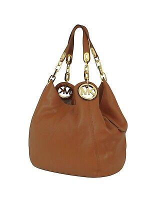 NWT Michael Kors Luggage Fulton Chain Large Shoulder Tote Bag Free (Free Michael Kors Bag)