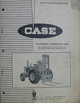 Original Case Parts Catalog No. A918 530 Construction King Forklift Issued 1964