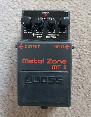 BOSS MT-2 METAL ZONE MT2 Guitar FX Pedal Overdrive/Distortion effect