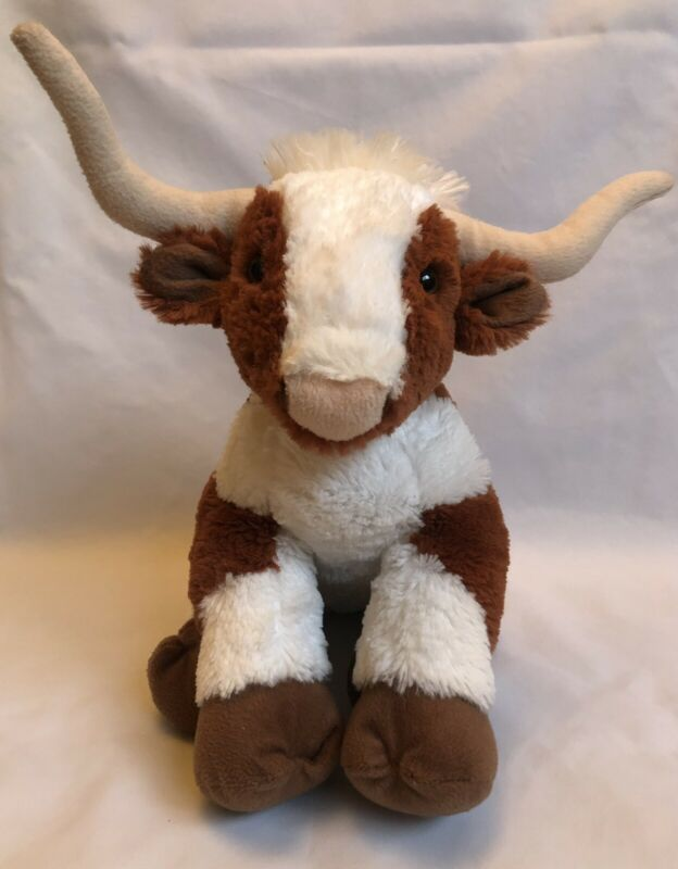 Build~A~Bear~Workshop Rare HTF Longhorn Steer Plush! BABW Texas Longhorns Bevo