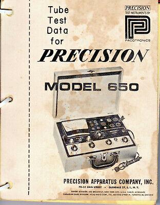 Precision Apparatus Co. Model 650 Manuals Pdf Copies