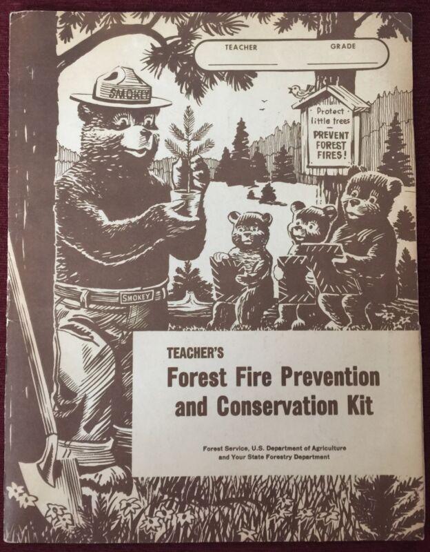 Vintage Smokey The Bear Teacher's Forest Fire Prevention Folder