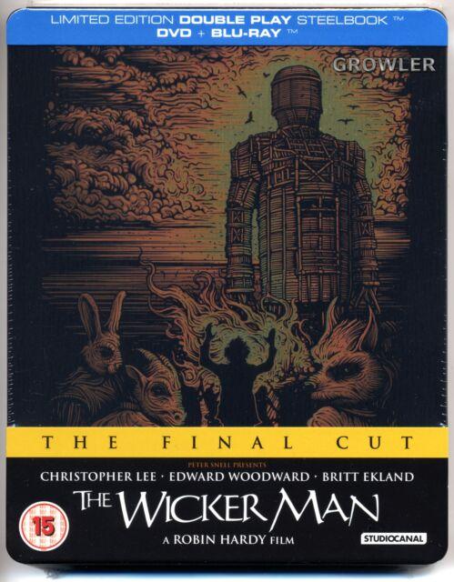 THE WICKER MAN BLU-RAY + DVD STEELBOOK - CULT HORROR FILM CHRISTOPHER LEE MOVIE