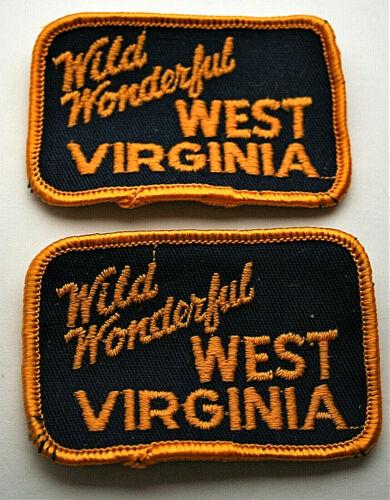 2 Vtg 1970s Wild Wonderful West Virginia State Patch New NOS Roman Art
