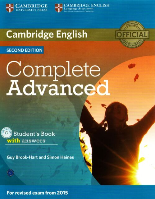 COMPLETE ADVANCED 2nd Ed STUDENT BOOK w Answers & CD-ROM for Exam from 2015 @NEW