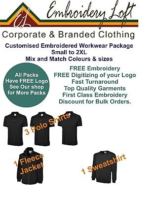 Embroidered Workwear Package MANPACK 6 INCLUDES EMBROIDERED LOGO & SET-UP