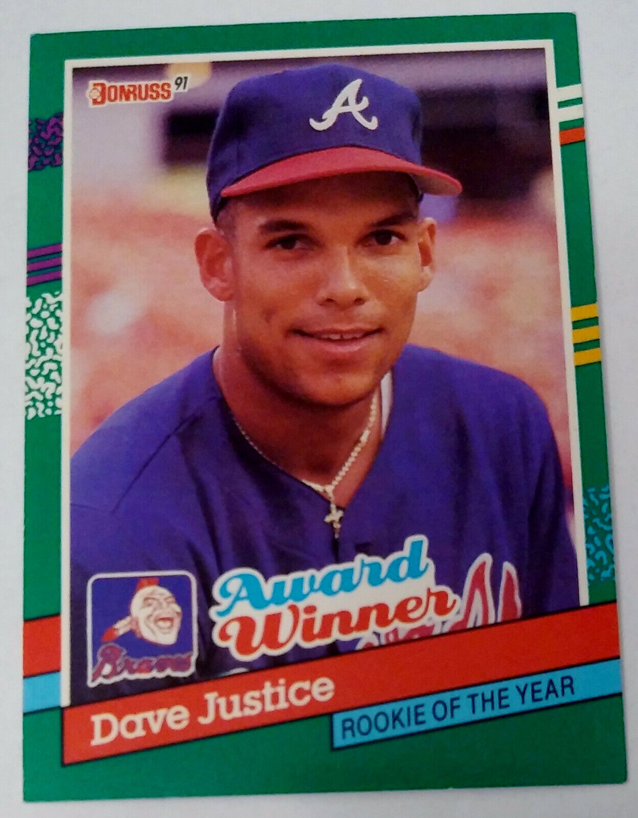 1991 Donruss Dave Justice Rookie Of The Year 683 - $0.99