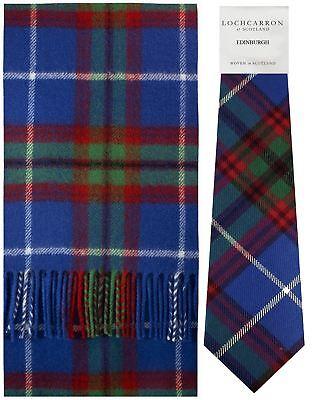 Edinburgh Tartan Brushwool Scarf & Tie Gift Set