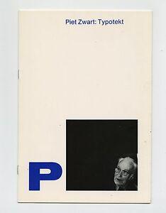 1981 Ex Libris PIET ZWART: TYPOTEKT Dutch Avant-Garde Typography Exhibit Catalog
