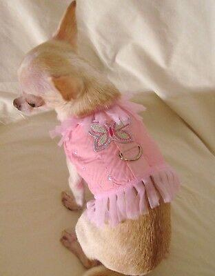 Dog harness/dog dress/Pink Butterfly Angel-Size Medium or large only! -FREE SHIP