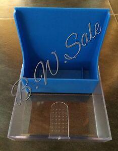 BLUE Plastic Storage Box for 3.5