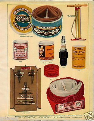 1915 PAPER AD OVB Our Very Best Tools Revonoc Spark Plug Car Auto Tool Kit