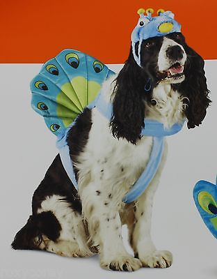 Halloween Peacock Pet Dog Costume Size Large 25-50 lbs 18-22 in NWT