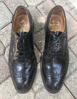 Church's Black Leather Custom Grade Men's Wingtip Dress Shoes Sz 11.5