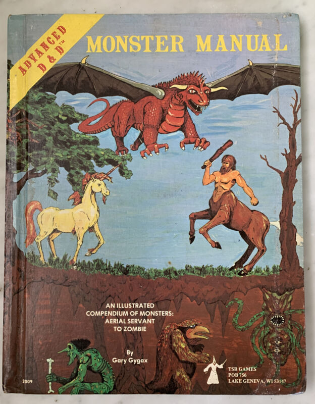 AD&D Advanced Dungeons & Dragons Monster Manual TSR Free Shipping
