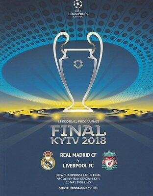 * 2018 UEFA CHAMPIONS LEAGUE FINAL - LIVERPOOL v REAL MADRID (26th May 2018) *